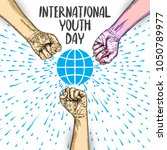 international youth day design... | Shutterstock .eps vector #1050789977
