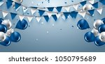 celebration background with... | Shutterstock .eps vector #1050795689