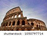ancient roman colosseum against ... | Shutterstock . vector #1050797714