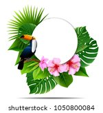 tropical island spring of... | Shutterstock .eps vector #1050800084