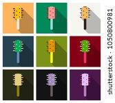 fashion equipment of hairbrush... | Shutterstock .eps vector #1050800981
