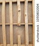 the broken wooden pallet. | Shutterstock . vector #1050802004