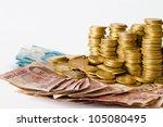 mexican pesos money  coins and... | Shutterstock . vector #105080495