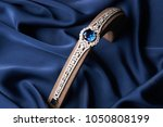 beautiful platinum bracelet....   Shutterstock . vector #1050808199