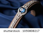 beautiful platinum bracelet.... | Shutterstock . vector #1050808217