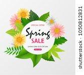 spring sale background banner... | Shutterstock .eps vector #1050812831