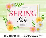 spring sale background banner... | Shutterstock .eps vector #1050812849