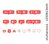 set of social media icons  ... | Shutterstock .eps vector #1050813644