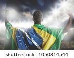 brazilian soccer player... | Shutterstock . vector #1050814544
