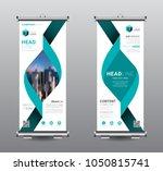 roll up banner standee business ... | Shutterstock .eps vector #1050815741