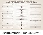 set of vintage line with... | Shutterstock .eps vector #1050820394