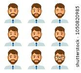 businessman flat avatars set...   Shutterstock .eps vector #1050820985