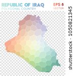 republic of iraq polygonal ... | Shutterstock .eps vector #1050821345