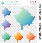 kosovo geometric polygonal ... | Shutterstock .eps vector #1050821561