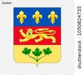 emblem of quebec  province of... | Shutterstock .eps vector #1050824735