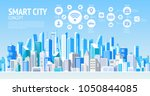 smart city. social media...   Shutterstock .eps vector #1050844085