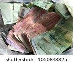 1000 baht banknote 500 baht...   Shutterstock . vector #1050848825