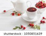 tea with berries of a dogrose... | Shutterstock . vector #1050851639
