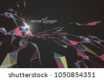 abstract graphic formed by a... | Shutterstock .eps vector #1050854351