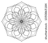 mandala flower freehand drawing ... | Shutterstock . vector #1050865184