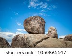 boulders at a resting stop on... | Shutterstock . vector #1050865547