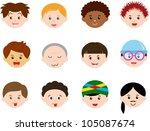 vector of little boys  man men  ... | Shutterstock .eps vector #105087674