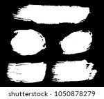 collection of hand drawn white... | Shutterstock .eps vector #1050878279