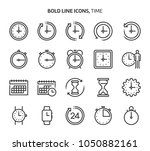 time  bold line icons. the... | Shutterstock .eps vector #1050882161