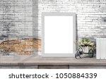 mock up poster or photo frame ... | Shutterstock . vector #1050884339