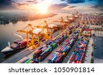 logistics and transportation of ... | Shutterstock . vector #1050901814