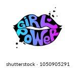 girl power lettering. feminist... | Shutterstock .eps vector #1050905291