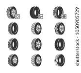 car tires  wheel disk auto... | Shutterstock .eps vector #1050905729