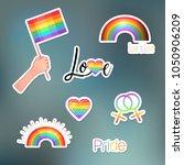 love wins. lgbt logo symbols...   Shutterstock .eps vector #1050906209