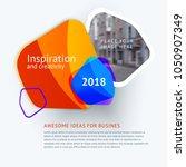 set of abstract vector design... | Shutterstock .eps vector #1050907349