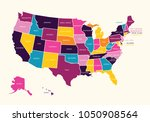 vintage colorful united state... | Shutterstock .eps vector #1050908564