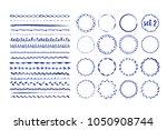 set of 16 seamless handdrawn... | Shutterstock .eps vector #1050908744