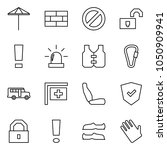 flat vector icon set   umbrella ... | Shutterstock .eps vector #1050909941