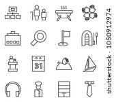 flat vector icon set  ... | Shutterstock .eps vector #1050912974