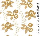 floral pattern vector. gold...   Shutterstock .eps vector #1050914297