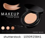 cushion compact foundation ads  ...   Shutterstock .eps vector #1050925841