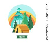 camping. campground in the... | Shutterstock .eps vector #1050934175