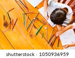 top view of group  asian...   Shutterstock . vector #1050936959