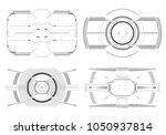 hud futuristic element. hi tech ...   Shutterstock .eps vector #1050937814