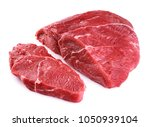 Raw beef meat isolated on white ...