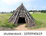pit dwelling house in aomori ... | Shutterstock . vector #1050940619