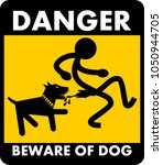 danger  beware of dog | Shutterstock .eps vector #1050944705