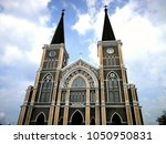 beautiful  church in the sky... | Shutterstock . vector #1050950831