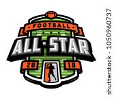all stars of football  logo ... | Shutterstock .eps vector #1050960737