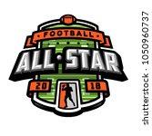 all stars of football  logo ...   Shutterstock .eps vector #1050960737