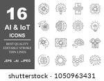 ai  artificial intelligence ... | Shutterstock .eps vector #1050963431